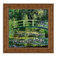 Bridge over a Pond of Water Lilies 16.25-Inch x 16.25-Inch Framed Canvas Replica Wall Art