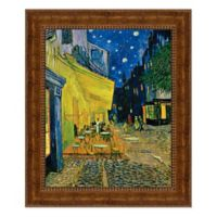 Cafe Terrace on the Place du Forum 20.25-Inch x 23.25-Inch Framed Canvas Replica Wall Art