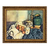 """Still Life with Apples"" 46-Inch x 38-Inch Framed Canvas Replica Wall Art"