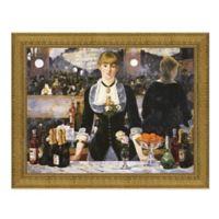 """Bar at the Folies-Bergere"" 28.5-Inch x 23.5-Inch Framed Canvas Replica Wall Art"