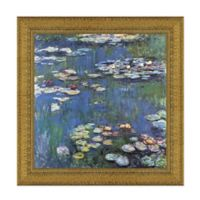 """""""Water Lilies"""" 27.5-Inch x 27.5-Inch Framed Canvas Replica Wall Art"""