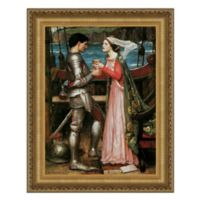 Tristan and Isolde Sharing the Potion 38.75-Inch x 49.25-Inch Framed Canvas Replica Wall Art