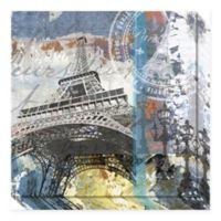 Amanti Art Paris Eiffel 20-Inch x 20-Inch Canvas Wall Art