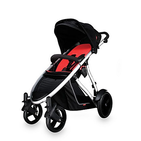 Phil & Teds® Verve™ 4WD Uptown Baby Stroller in Black/Red
