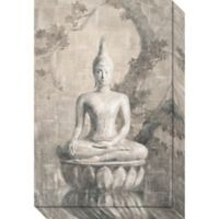 Amanti Art Buddha Neutral 16-Inch x 24-Inch Canvas Wall Art