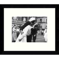 Amanti Art Kiss War Goodbye 11-Inch x 9-Inch Framed Wall Art