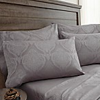 Jacquard Damask 800-Thread-Count Queen Sheet Set in Silver