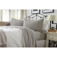 Great Bay Home Carmen Jersey Full Sheet Set in Light Grey