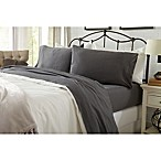 Great Bay Home Carmen Jersey Queen Sheet Set in Charcoal