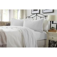 Great Bay Home Carmen Jersey Twin Sheet Set in Winter White