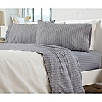 Great Bay Home Carmen Jersey Queen Sheet Set in Chevron Grey