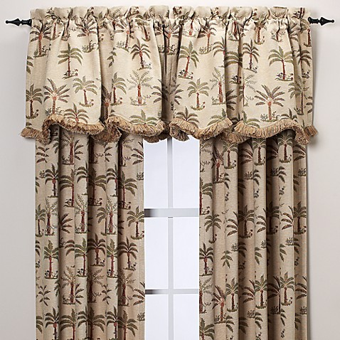 Palm Chenille Window Curtain Panels Bed Bath Amp Beyond