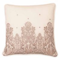 Beautyrest® Montreal Embroidered Square Throw Pillow in Shell