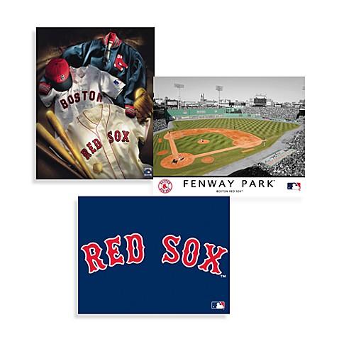 mlb boston red sox canvas wall art - Boston Red Sox Bath Accessories