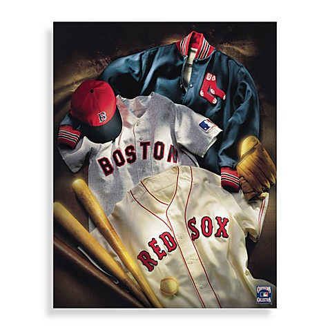 MLB Boston Red Sox Vintage Collage Canvas Wall Art