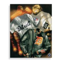 MLB Detroit Tigers Vintage Collage Canvas Wall Art