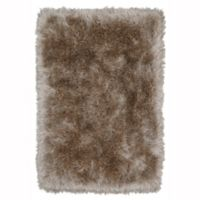 Mohawk Home Juliet Metallic 5' x 7' Shag Area Rug in Taupe