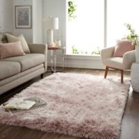 Mohawk Home Juliet Metallic 5' x 7' Shag Area Rug in Blush