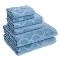 American Dawn Inc. Hart Diamond 6-Piece Towel Set in Citadel Blue