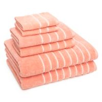 American Dawn Inc. Burke 6-Piece Towel Set in Coral