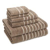 American Dawn Inc. Burke 6-Piece Towel Set in Taupe