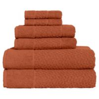 Me Tei Jacquard 6-Piece Towel Set in Clay