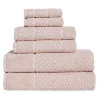 Me Tei Jacquard 6-Piece Towel Set in Peach