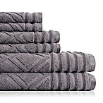 American Dawn Inc. Prescott 6-Piece Towel Set in Grey Flannel