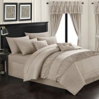 Chic Home Kea 20-Piece Queen Comforter Set in Taupe