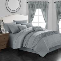 Chic Home Kea 20-Piece Queen Comforter Set in Grey