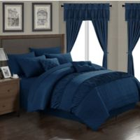 Chic Home Kea 20-Piece Queen Comforter Set in Navy