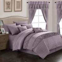 Chic Home Kea 20-Piece Queen Comforter Set in Plum