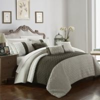 Chic Home Shai 10-Piece King Comforter Set in Brown