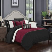 Chic Home Shai 10-Piece Queen Comforter Set in Black
