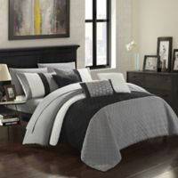 Chic Home Shai 10-Piece King Comforter Set in Grey