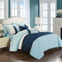 Chic Home Shai 10-Piece King Comforter Set in Blue