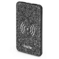 iHome® 5K mAh Qi Wireless Fabric Power Bank in Black