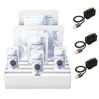 Alldock Classic Large Charging Station in White with 3 MFI Cables