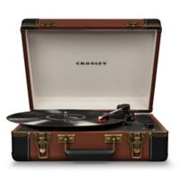 Crosley Executive Deluxe USB Portable Turntable in Brown