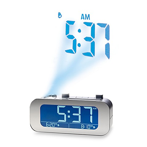 brookstone timesmart self setting projection clock bed bath beyond rh bedbathandbeyond com Self-Setting Projection Alarm Clock Clock Radios with Good Reception