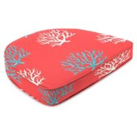 Print Contoured Boxed Seat Cushion in Isadella Calypso