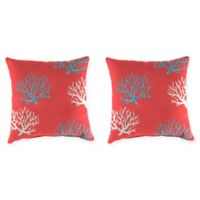 Print 16-Inch Square Throw Pillows in Isadella Calypso (Set of 2)
