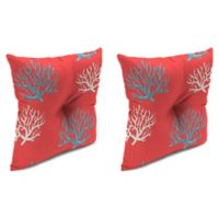 Print 16-Inch Square Tufted Throw Pillows in Isadella Calypso (Set of 2)