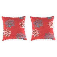 Jordan Manufacturing Floral Print 20-Inch Square Throw Pillows in Isadella Calypso (Set of 2)