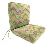 Print 44-Inch Boxed Edge Dining Chair Cushion in Faremore Carnival