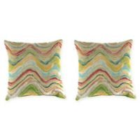 Print 16-Inch Square Throw Pillows in Faremore Carnival (Set of 2)