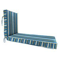 Jordan Manufacturing Heatwave Stripe Outdoor 80-Inch Chaise Lounge Cushion in Cobalt