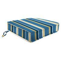 Stripe 21.5-Inch Boxed Edge Chair Cushion in Cobalt