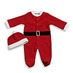 babyGEAR™ Size 0-3 Month Santa Fleece Footie