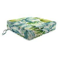 Jordan Manufacturing Senca Caribbean 21.5-Inch Square Boxed Edge Cushion in Green